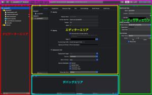 [XCode]ワークスペースの各エリアの名称と役割について(1)